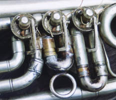 Brass Parts on a Silver Cornet