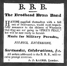 Brodhead Brass Band Newspaper Ad